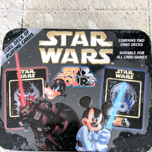 Mickey Star Wars playing cards